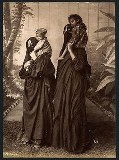 egyptian women in burkas 1880s