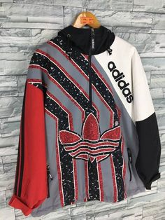 Adidas Adidas Hoodie Jacket Windbreaker Xlarge Vintage 90's Adidas Trefoil Three Stripes Adidas Multicolor Parka Sportswear Adidas Coat Size Xl | Grailed Adidas Vintage Jacket, Vintage Adidas, Adidas Trefoil Hoodie, Adidas Hoodie, Adidas Outfit, Adidas Sneakers, Windbreaker Outfit, Adidas Three Stripes, Vintage Jerseys
