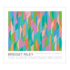 Bridget Riley-The Curve Paintings Lagoon poster (original De La Warr Pavilion, Bexhill-on-Sea