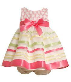 Bonnie Baby Newborn Ribbon Trim Organaza Social Dress | Dillard's Mobile
