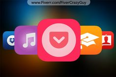 design iOS 9 or iOS 10 App ICONS by fivercrazyguy