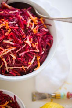 Beet, Carrot & Apple Salad | StupidEasyPaleo.com