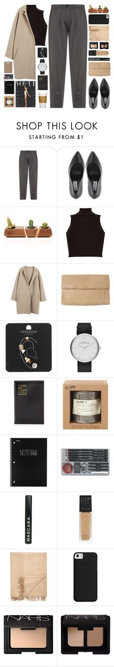 """""""Untitled #2131"""" by tacoxcat ❤ liked on Polyvore featuring Emporio Armani, Dot & Bo, Influence, Rochas, Topshop, Marc by Marc Jacobs, Flight 001, Le Labo, Mead and Maybelline"""