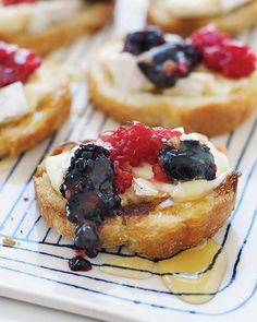 Smashed Berry & Brie Crostini