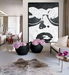 Large Abstract Art, Handmade Painting Minimalist Art, Abstract Painting On Canvas, Modern Art Landscape. Decoration, Art Decor, Home Decor, Minimal Art, Art Minimaliste, Deco Floral, Arte Pop, Art Design, Painting Inspiration