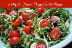Antipasto Chicken Chopped Salad {Gluten Free}
