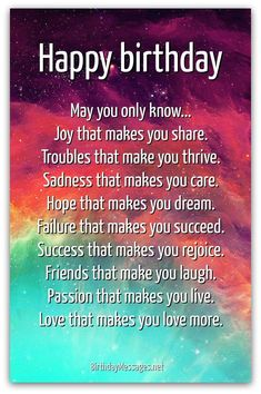 Inspirational Birthday Poems - Page 2 Projects to Try Birthday inspirational birthday wishes - Inspirational Quotes Birthday Poem For Friend, Birthday Quotes Funny For Him, Happy Birthday Wishes Quotes, Birthday Quotes For Best Friend, Happy Birthday Pictures, Birthday Greetings, Funny Birthday, 21 Birthday, Birthday Ideas