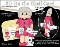 3D On The Shelf Card Kit - Vanesa Is Happily Retired
