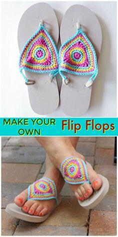 Ideas for crochet baby socks pattern flip flops Crochet Baby Socks, Crochet Slipper Boots, Crochet Slippers, Baby Blanket Crochet, Crochet For Kids, Crochet Ideas, Flip Flops Diy, Flip Flop Craft, Diy Crochet Flip Flops
