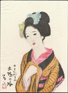 竹久夢二: Timberyard Daughter - 木場の娘 - Ohmi Gallery