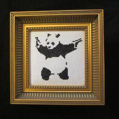 Banksy Panda PDF Cross Stitch Pattern small 4 by sarawytrzes, $5.00