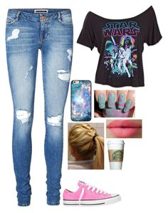 """""""Super pumped for Star Wars"""" by charley-baby ❤ liked on Polyvore featuring Converse, LORAC, Vero Moda, women's clothing, women, female, woman, misses and juniors"""