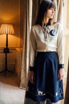 Feline Fling Skirt (Dots) - misspatina.com