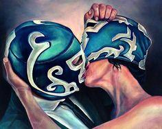 Área Visual - Blog de Arte y Diseño: Yannick Fournié. Máscaras de lucha libre fuera del ring