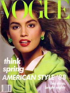 Cindy Crawford 80's supermodel : Vogue Cover