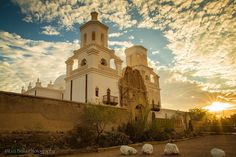 January 13, 2015 - January 13, 2015 Mission San Xavier del Bac near Tucson glows with the light of sunrise. Photo By: Daniel Romero - See more at: http://www.arizonahighways.com/photography/photo-archive#sthash.hBVwVXTj.dpuf