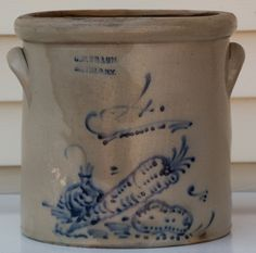 Unusual 4 gallon crock stamped Braun Buffalo, with a carrot, onion, and potato… Antique Crocks, Old Crocks, Antique Stoneware, Stoneware Crocks, Antique Pottery, Primitive Antiques, Glazed Pottery, Glazes For Pottery, Needful Things