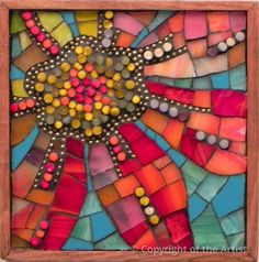 Sky Flower 3 by Patricia Ormsby   ~  Maplestone Gallery  ~  Contemporary Mosaic Art