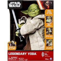 Jedi Master Interactive Talking Yoda Legendary Star Wars Figure Lights Sounds
