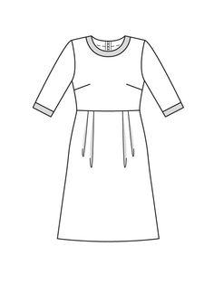 Платье с отрезной юбкой - выкройка № 123 из журнала 8/2015 Burda – выкройки платьев на Burdastyle.ru