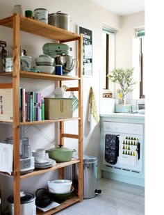 Google Image Result for http://thedesignfiles.net/wp-content/uploads/2011/03/LC-kitchenwide.jpg Ikea Kitchen, Kitchen Shelves, Kitchen Pantry, Kitchen Storage, Pantry Shelving, Kitchen Cupboard Doors, Ikea Shelves, Open Pantry, Kitchen Decor