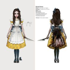 Items similar to Alice American McGee Cosplay Adult Costume New design on Etsy Lewis Carroll, Alice Cosplay, Alice Costume, Alice Liddell, Alice In Wonderland Dress, Alice Madness Returns, Adventures In Wonderland, Asylum, Adult Costumes