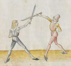 Lecküchner, Hans: Kunst des Messerfechtens Nordbayern, 1482 Cgm 582 Folio 10