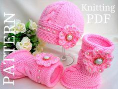 Knitting PATTERN Baby Booties Baby Shoes Patterns por Solnishko43