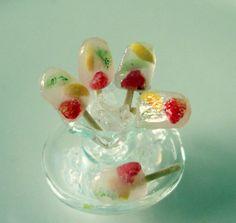 miniature fruits popsicles by Asakomini