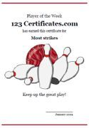 Free printable blank certificate of completion template for free printable bowling certificates bowling awards bowling certificate templates and bowling party printables for yelopaper Image collections
