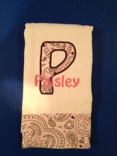 Baby girl pink paisley burp cloth by LindaKaysCreations on Etsy, $6.50