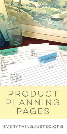School's out: Time to get organized | Join me in a summer blog series on organization. Each week I'll feature a new tip on reducing paper, streamlining your lesson planning process, and more. This month's newsletter exclusive resource are Product Planning Pages. The perfect tool for organizing your creative process. everythingjustso.org