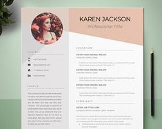 Resume Template 3 Page CV Template Cover Letter / Instant | Etsy Modern Resume Template, Creative Resume Templates, Cv Template, Resume Writing Tips, Resume Skills, Resume Tips, Resume Cv, Microsoft Word 2007, Cover Letter Template