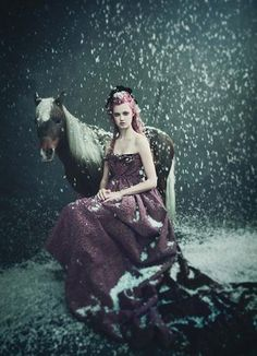 """""""Family Circus"""", Arizona Muse, Lindsey Wixson and Britt Maren by Paolo Roversi for W Magazine Lindsey Wixson, Paolo Roversi, Fantasy Photography, Fashion Photography, Winter Photography, Whimsical Photography, Equine Photography, Artistic Photography, Portrait Photography"""
