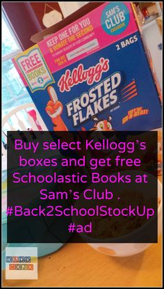Buy select Kellogg's boxes and get free Schoolastic Books at Sam's Club . #Back2SchoolStockUp #ad eating breakfast