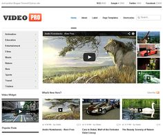 Video Pro Blogger Template é um template blogger para blog de videos, filmes e etc. Com layout limpo, Video Pro tem 4 colunas, 1 sidebar esquerda, 4 colunas de rodapé, slide de conteúdo em destraque, menu horizontal drop-down, página de navegação numerada, botões de compartilhamento social, posts relacionados, perfil do autor abaixo de cada post, locais para posicionar anúncios e muito mais. Blogger Blogs, Moon Logo, Navigation Bar, Video Site, Seo Tips, Blogger Templates, Layout, Wordpress Theme, Web Design
