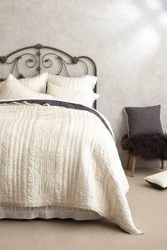Down Alternative Sham Insert Stitched Kantha Coverlet - Stitched Kantha Coverlet - Cozy Bedroom, Dream Bedroom, Home Decor Bedroom, Bedroom Simple, Bedroom Bed, Master Bedrooms, Bedroom Furniture, Bedding Shop, Bedroom Vintage
