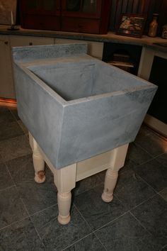 Laundry Sink, Soap Stone. Can Do With Industrial Legs Instead Or Cabs Below.