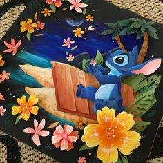 My friend's paper artwork is amazing. Disney Fan Art, Disney Fun, Disney Magic, Lilo And Stitch Characters, Silhouette Cameo, Lelo And Stitch, Karten Diy, 3d Paper Crafts, Diy Crafts