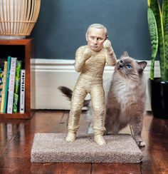The Pussycat Riot — Putin Cat Scratching Post