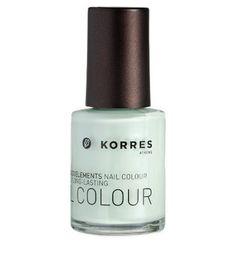 Korres Nail Colour Polish 35 Pastel Mint with Myrrh Oligoelements | eBay