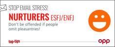 Stop email stress! ESFJ ENFJ