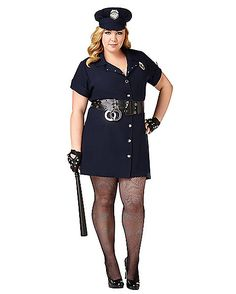 Adult In the Line of Duty Cop Plus Size Costume - Spirithalloween.com