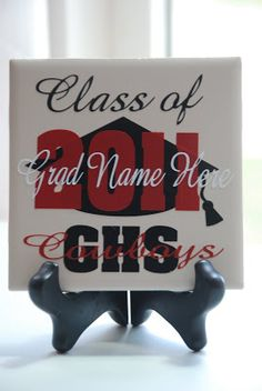 Personalized Graduation Gift ~ Vinyl on tile...looks like this is a larger tile