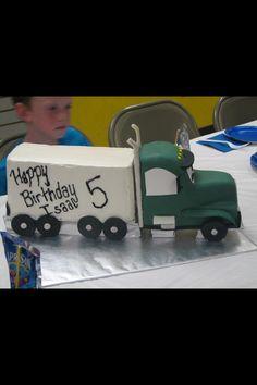Semi tractor trailer cake my cakesetc Pinterest Cake