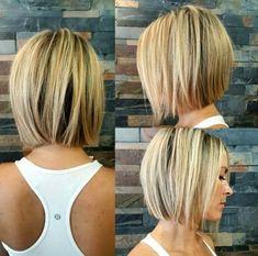 Blunt Bob Hairstyles, Popular Short Hairstyles, Short Hairstyles For Thick Hair, Short Bob Haircuts, Layered Hairstyles, Hairstyle Short, Medium Hairstyles, Hairstyles 2018, Fashion Hairstyles