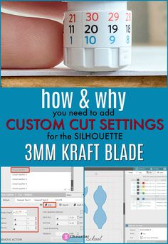 Adding Custom Silhouette Cut Settings for Kraft Blade (And Why You Should NOT Skip This Step) Silhouette School Blog, Silhouette Cameo Tutorials, Silhouette Cameo Machine, Silhouette Projects, Silhouette Files, Inkscape Tutorials, Learn Calligraphy, Silhouette America, Silhouette Portrait