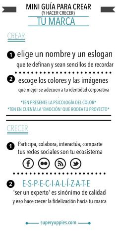 Miniguía para tu marca personal #infografia #marketing #socialmedia por /alfredovela/