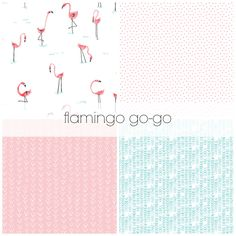 flamingo go-go crib bedding set