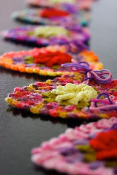 Rainbow Rose Heart Garland  Sarah London
